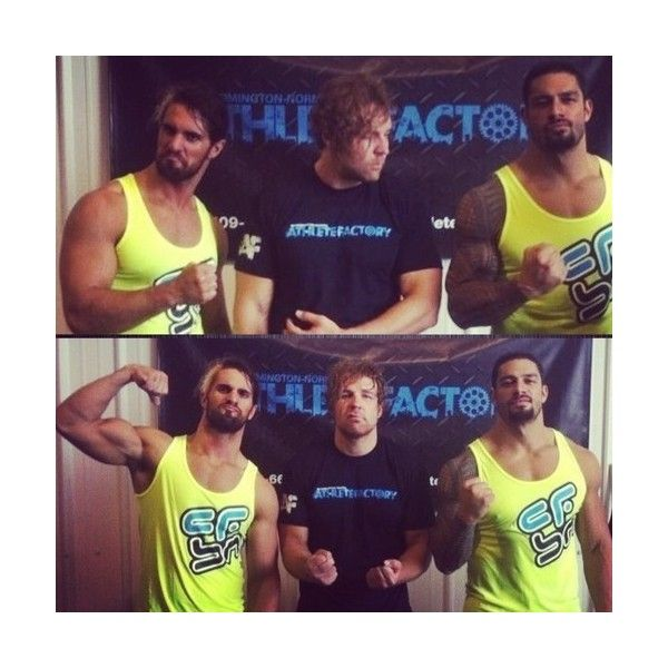 The Shield ❤ liked on Polyvore featuring wwe, the shield, dean ambrose, roman and dean