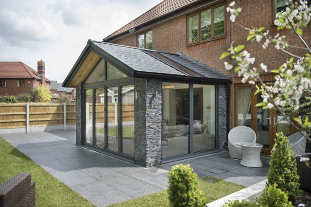 Warmroof The Award Winning Conservatory Roof Solid Tiled Insulated In 2020 House Extension Design Conservatory Roof Garden Room Extensions