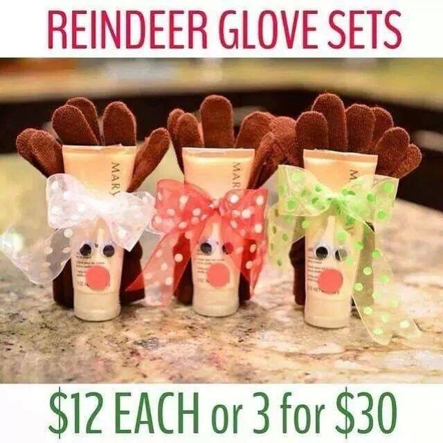 Reindeer glove sets Contact me today to order yours! Addy Fout (918) 764-6336 adriana95355@yahoo.com http://www.marykay.com/addyfout