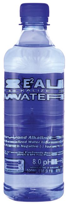 Real Water Re(2)al Alkalized Water 16.9 fl oz Liquid