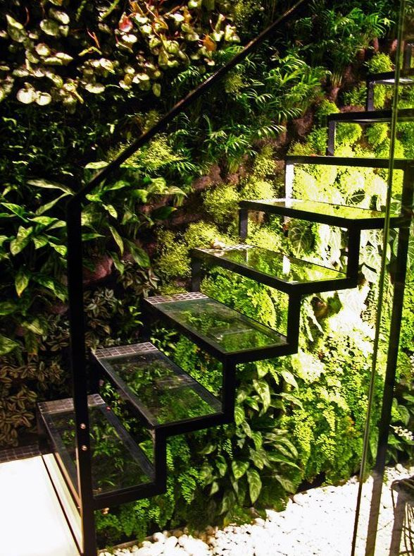 stairs with plants - Google Search