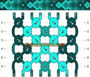 Normal Friendship Bracelet Pattern #11040 - BraceletBook.com