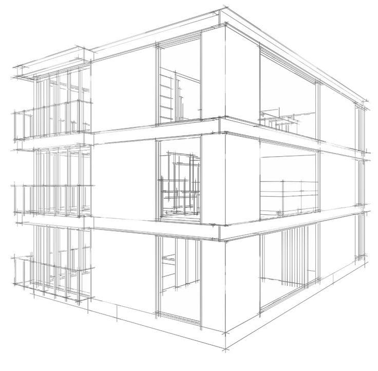 Factory Office Design Space Sketch, Sketch Up Style, 스케치업 스타일, 공장 사무실 인테리어 디자인 스케치