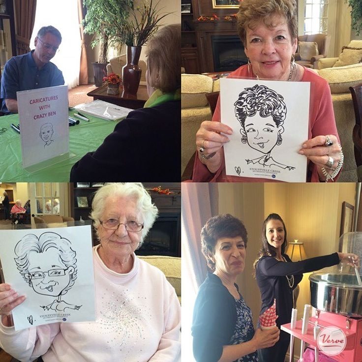 Cotton candy, fair foods and caricatures! Resident's at Stouffville Creek got a kick out of their cartoon portraits sketched by Crazy Ben.