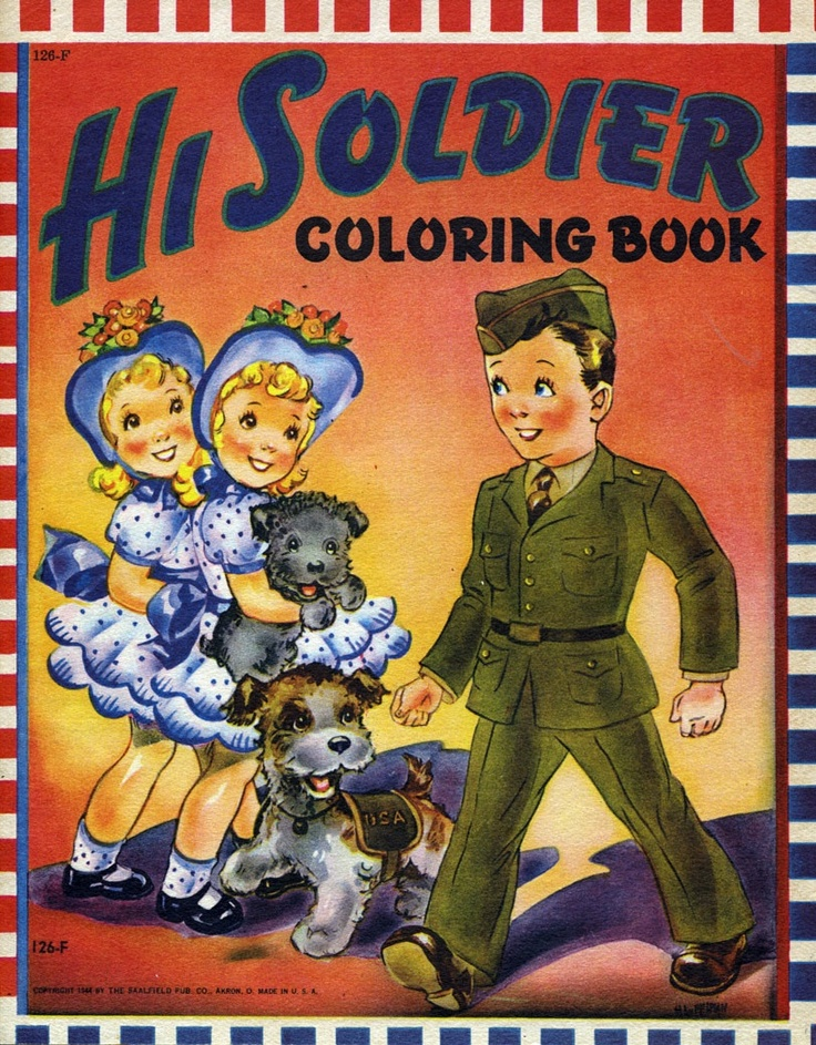 A WW2 Coloring Book Vintage 1940s Kids Toys