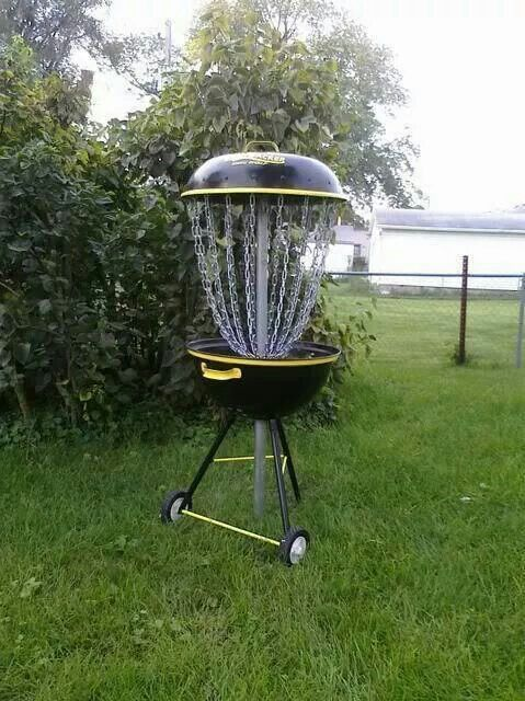 homemade disc golf basket