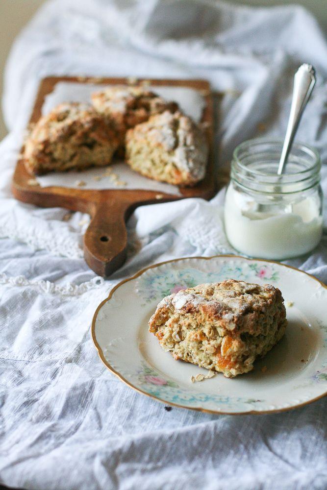 Scottish Apricot Scones / Apricot Oat Scone | Food: Breakfast/Snack ...