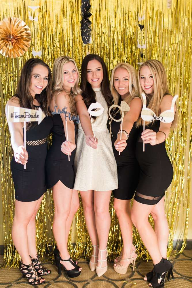 Last Fling Before The Ring: Black & Gold Bachelorette Party  Bachelorette Party Ideas | Photo 1 of 69