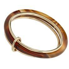 Тройное кольцо с агатом