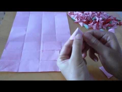 Origami 3D //Come fare un triangolo di carta per origami 3D