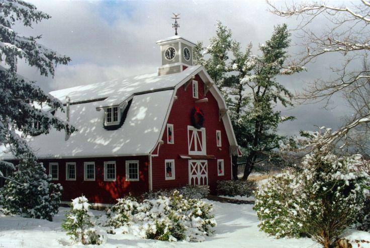 National Barn Alliance~: Christmas Cards, Winter Scene, Beautiful Barns, Kits Barns, National Barns, Red Christmas, Red Barns, Christmas Barns, Merry Christmas