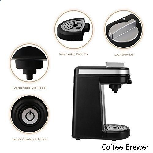 Cool Coffee Brewer Aicok Single Serve Coffee Maker Coffee Machine for Most single cup pods