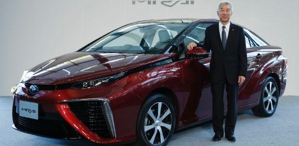 """Toyota quer """"mudar o mundo"""" com Mirai, carro a hidrogênio que emite água - Economia - BOL Notícias"""