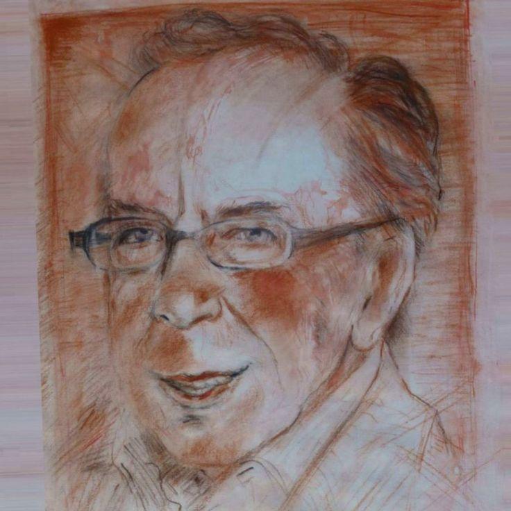 Ismail Kadare, portret nga Gazmend Freitag