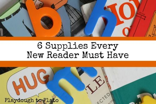 6 Supplies Every New Reader Must Have - types of books and 'letters'