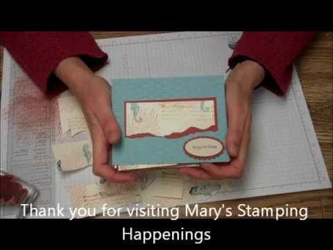 One-sheet-Wonder - video - Mary Trautner - Uses By the Tide stamp set.   Shows how to create and use a OSW to create 8 cards.