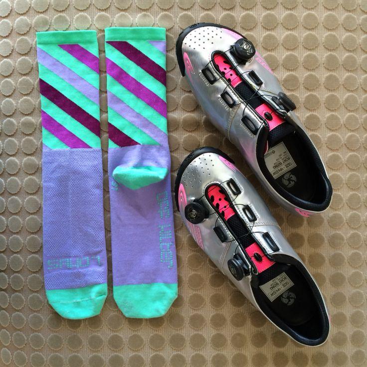 Today's shoe and sock combo:  Off Kilter & Vaypor+ MyBonts  http://instagram.com/p/0pUHVHmKYM/  #SAKO7SOCKS #SAKO7 #shoesockcombo #bontcycling