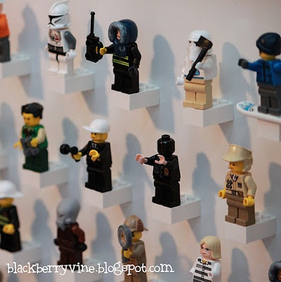 minifigure wall - super glue bricks to a surface like a white board or metal sheet