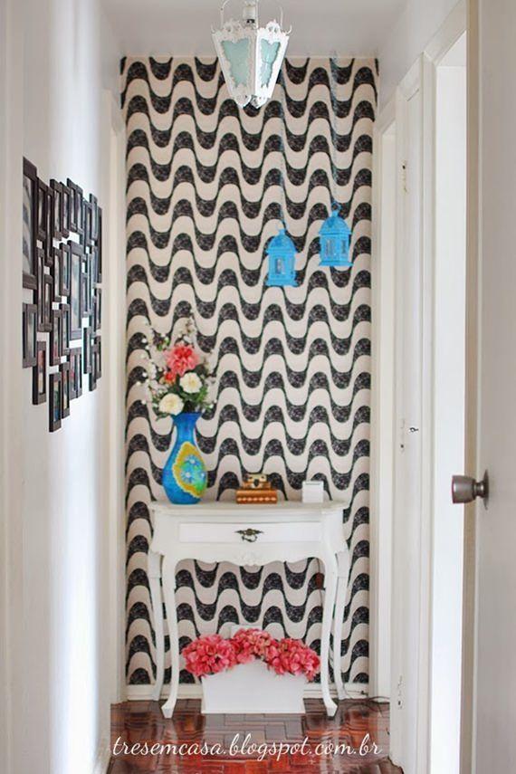 25 melhores ideias sobre tecido na parede no pinterest for Aplicacion decorar casa
