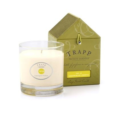No 10 Lemongrass Verbena Trapp Candle | Crisp citrus notes extracted from Asian lemongrass complemented by Brazilian verbena and softened with base notes of vanilla.
