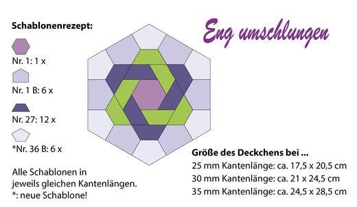 Eng umschlungen, English Paper Piecing