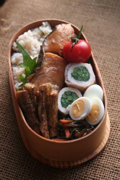 2016.03.16 春菊の肉巻と銀鱈煮つけ弁当