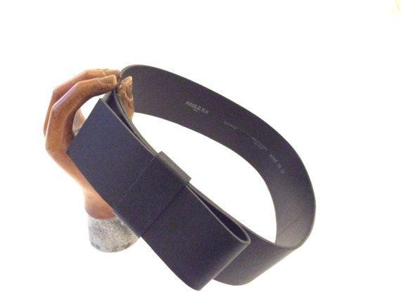 Rare ceinture Paule KA. Large ceinture noeud cuir par OhInTheShop