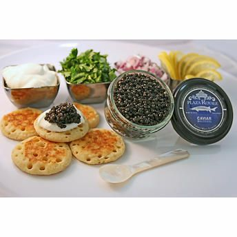 Farmed White Sturgeon Plaza Royale Caviar 2 oz Gift Set
