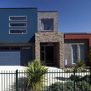 Boral Bricks Fusion Blue Rio & Horizon Mocha. Nightingale Burbank Homes