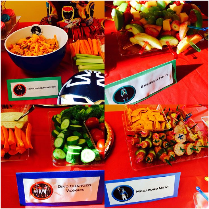 Power ranger party food ideas                                                                                                                                                                                 More