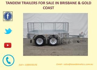 Tradesman Trailers Brisbane  Oz Wide Trailers have robust hot-dip galvanized tandem trailers available throughout Australia. Find out more here today. http://www.ozwidetrailers.com.au/tandem-trailers/