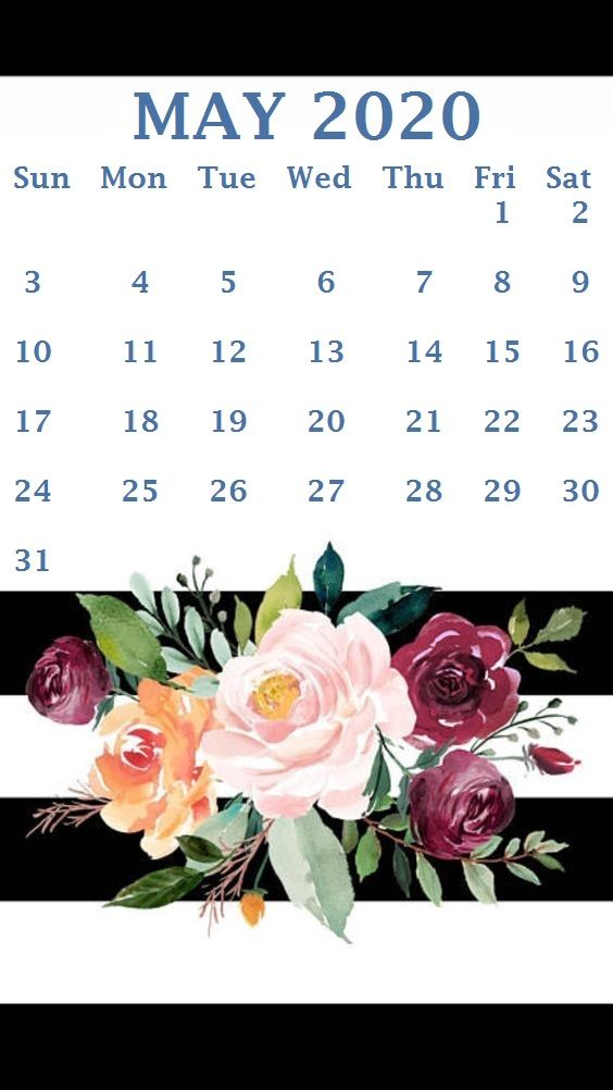 May 2020 Calendar Wallpaper iPhone May 2020 Calendar Wallpaper | Monthly Calendar Template