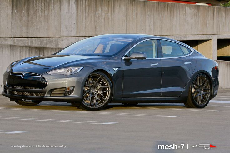 2014 Tesla Model S on ACE Mesh-7's