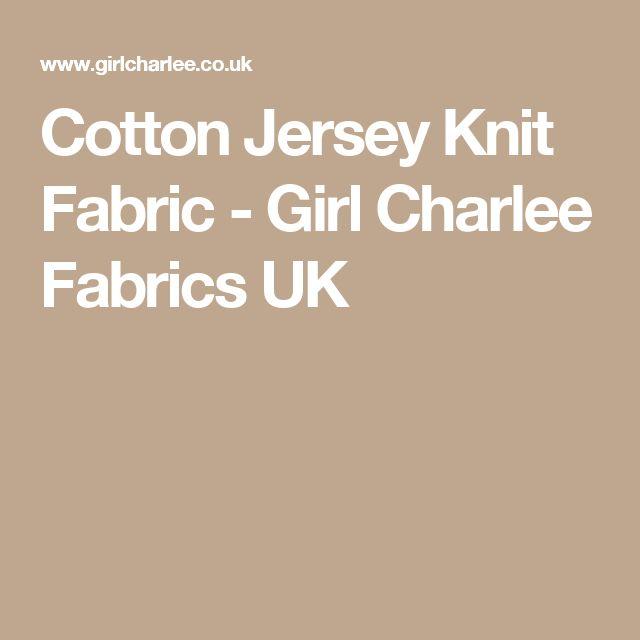 Cotton Jersey Knit Fabric - Girl Charlee Fabrics UK