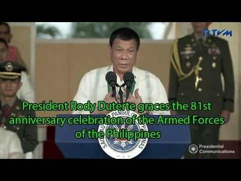 duterte Latest news December 22 2016 - WATCH VIDEO HERE -> http://dutertenewstoday.com/duterte-latest-news-december-22-2016/   duterte Latest news December 22 2016 Duterte Latest news December 21 2016 President Rody Duterte graces the 81st anniversary celebration of the Armed Forces of the Philippines at Camp Aguinaldo in Quezon City on December 21, 2016. Durterte lates New December 21 2016 Balitang Today December 21...