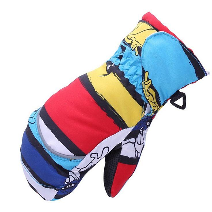 Populaire Winddicht Warm Verdikking Jongen Meisje Winter Baby Handschoenen Kinderen Wanten Outdoor Snowboard Handschoenen voor Kids