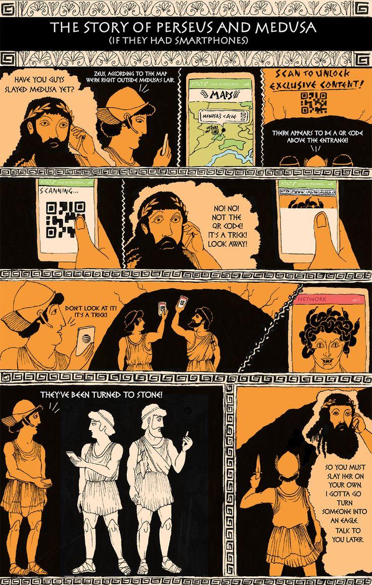 Classic Literature, Reimagined For The Smartphone Era | Classic Literature, Reimagined For The Smartphone Era - Perseus And Medusa