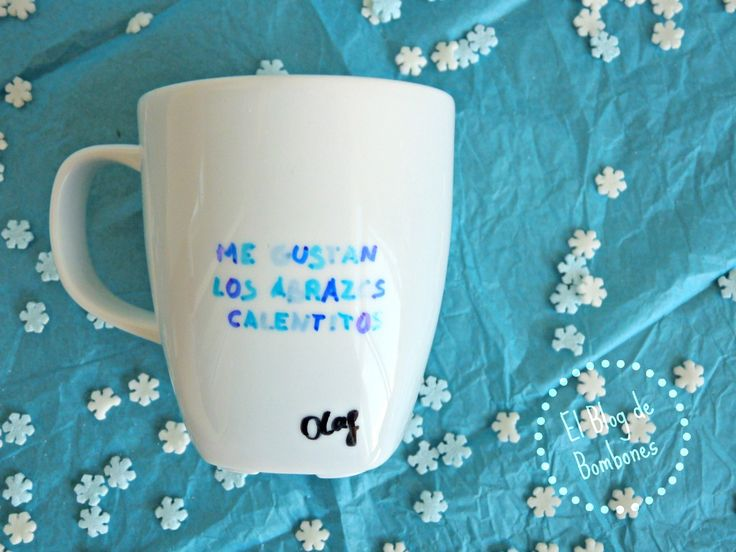 Tazas decoradas con Olaf - Frozen Mugs & Sharpies