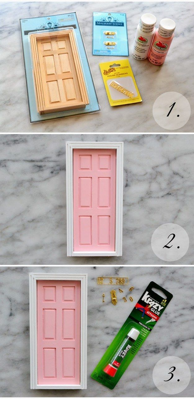 DIY an a-door-able tooth fairy door.