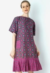 Danar Hadi  Dress Batik Ceplok