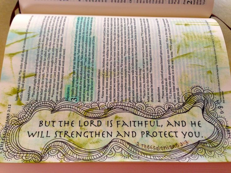 Vintage Grace: Bible Marginalia- The LORD is Faithful ~ Rub-on, distress ink & fine-point sharpie marker