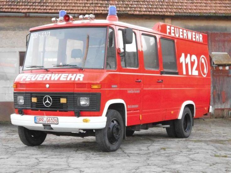 L 508 D, ehemaliger Polizei-Gruppenkraftwagen, 2000/2001 umgebaut zu Feuerwehrfahrzeug...,Mercedes Benz L 508 D Feuerwehr O309 608 407 408 409 Düdo in Brandenburg - Wittstock/Dosse