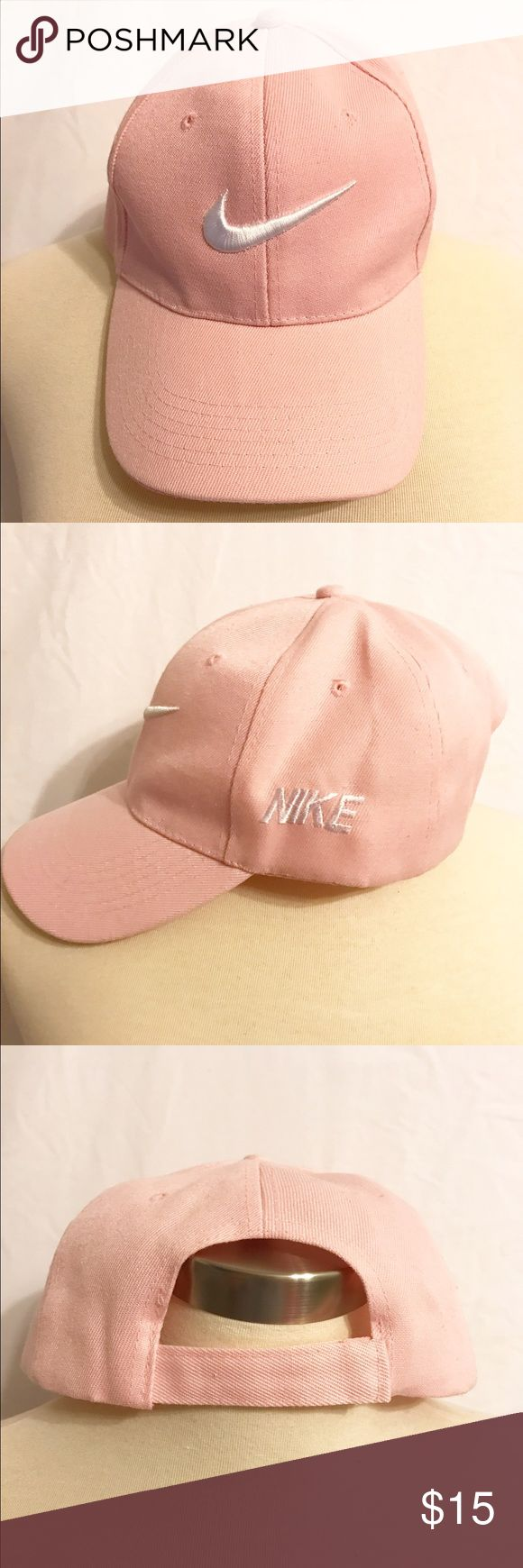 Nike hat Pink Nike hat with white Nike sign. So cute for a comfy or casual day! Nike Accessories Hats