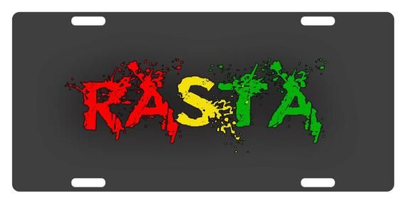 Rasta Flag Colors Custom License Plate Rastafarian Emblem Etsy In 2021 Lion Wallpaper Rasta Lion Flag Colors