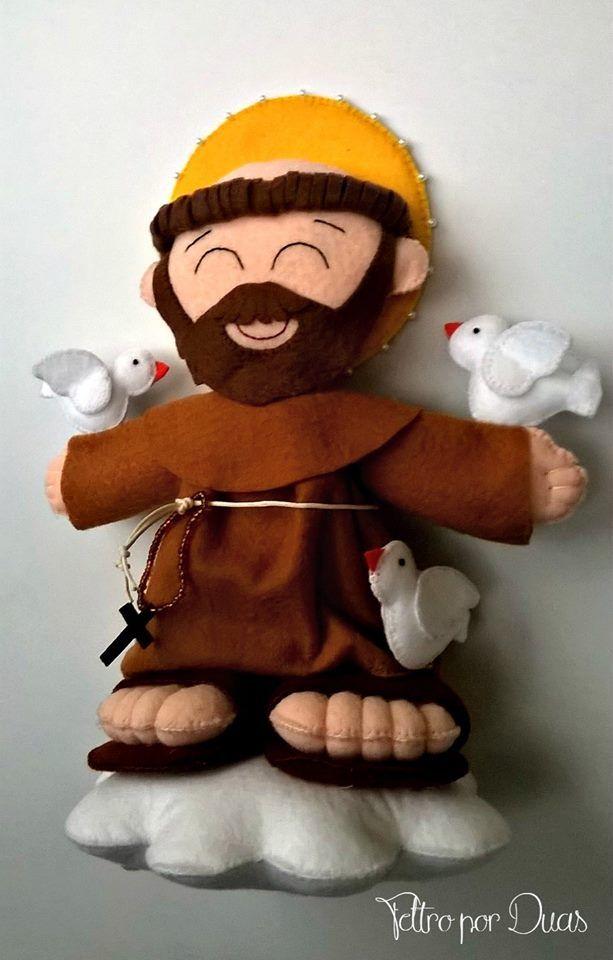 11201118_379145792270647_9132046576446485457_n.jpg (613×960) são francisco em feltro são francisco feltro craft crafty artesanato em feltro protetor dos animais
