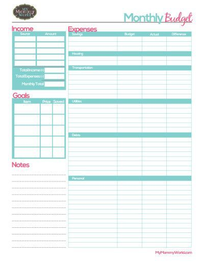 Best  Budget Forms Ideas On   Budget Planner