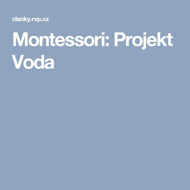 Montessori: Projekt Voda
