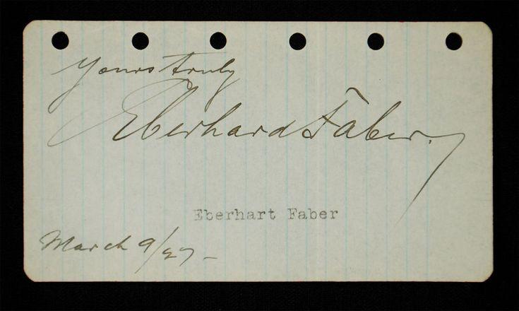 Vintage John Eberhard Faber, Jr. Signature - 1927 #EberhardFaber