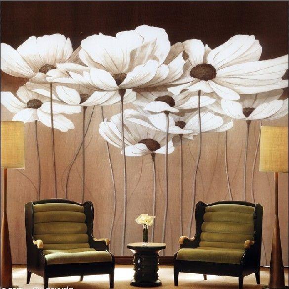Европейские картины и элегантный обои обои гостиной телевизор фоне крупных стены росписи спальни специального клея - Taobao