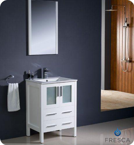 Fresca Bath FVN6224WH-UNS Torino 24 Vanity with Sink White https://modernbathroomvanitiesreviews.info/fresca-bath-fvn6224wh-uns-torino-24-vanity-with-sink-white/